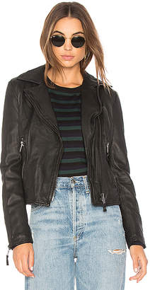 John & Jenn by Line Nicholas Leather Moto Jacket