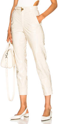 Zeynep Arcay Belted Patent Leather Pants