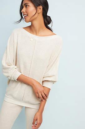 Ella Mara Quinn Waffle-Knit Pullover