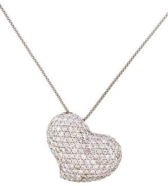 Necklace 18K Pavé Heart Pendant Necklace