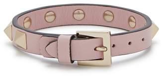 Valentino Rockstud Pink Leather Bracelet