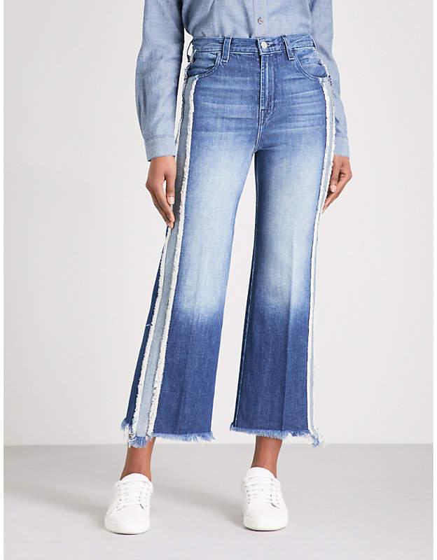 Joan wide-leg high-rise jeans