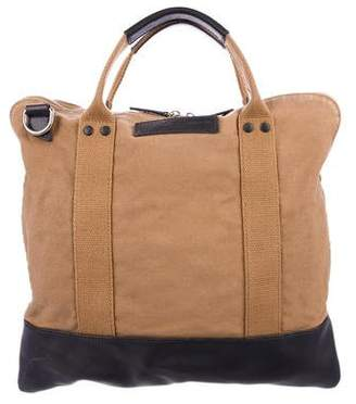 WANT Les Essentiels Leather-Trimmed Canvas Satchel