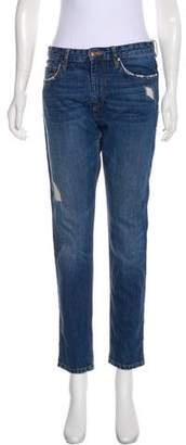 Etoile Isabel Marant Distressed Mid-Rise Jeans