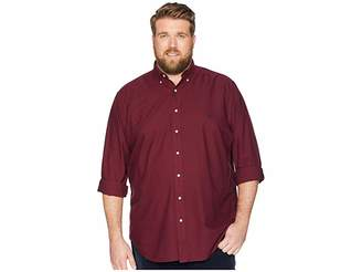 Polo Ralph Lauren Big Tall Solid Garment Dyed Oxford Long Sleeve Classic Fit Sports Shirt