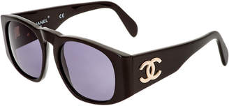 Chanel Black Acrylic Sunglasses