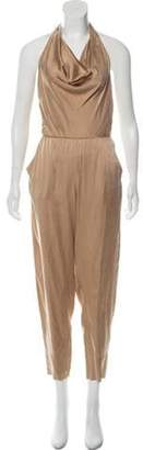 Diane von Furstenberg Silk Cowl Jumpsuit Copper Silk Cowl Jumpsuit