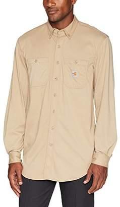 Carhartt Men's Flame Resistant Force Cotton Hybrid Shirt