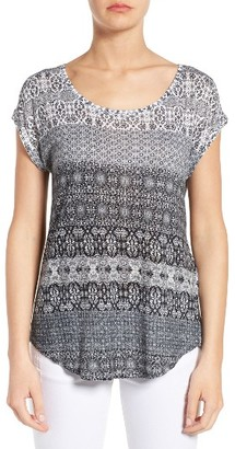 Women's Lucky Brand Ditzy Floral Stripe Tee $39.50 thestylecure.com