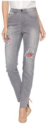 FDJ French Dressing Jeans Sterling Roses Embroidered Olivia Slim Leg Women's Jeans