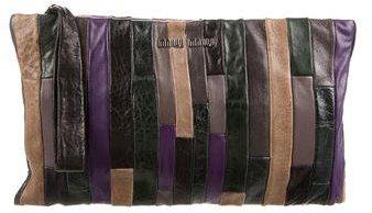Miu MiuMiu Miu Leather Patchwork Clutch
