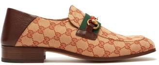 Gucci Donnie Gg Supreme Loafers - Mens - Beige