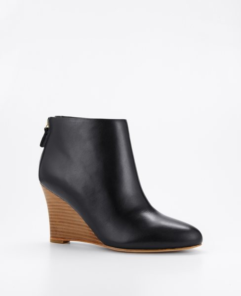 Leona Leather Wedge Booties