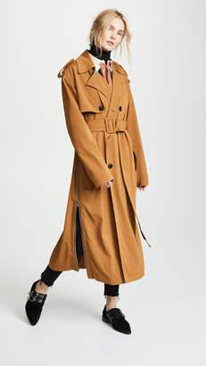 Toga Pulla Rayon Twill Trench Coat