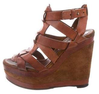 Barbara Bui Leather Platform Sandals
