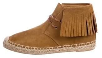 Saint Laurent Moccasin Espadrille Boots Brown Moccasin Espadrille Boots