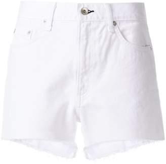 Rag & Bone frayed hem denim shorts
