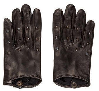 Bottega Veneta Bottega Veneta Leather Studded Gloves w/ Tags