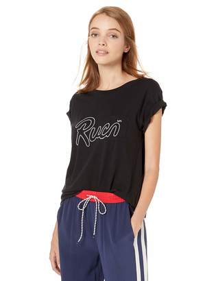 RVCA Junior's Flow Short Sleeve Crew Neck Pocket T-Shirt