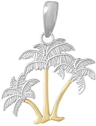 Trunks Million Charms 925 Sterling Silver Nautical Charm Pendant, and 14k Gold Palm Trees with Thin