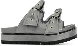 Alexander McQueen knot buckled sandals