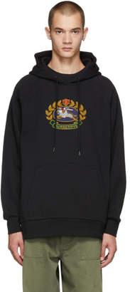 Burberry Black Esker Crest Logo Hoodie