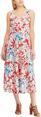 Chaps Women's Embroidered Print Midi Dress