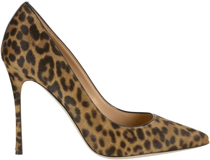 Sergio Rossi Godiva Haircalf Leopard Pumps Print 36