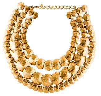 Oscar de la Renta Cone-Link Three Stand Necklace
