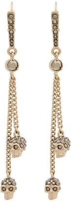 Alexander McQueen metallic chain skull earrings