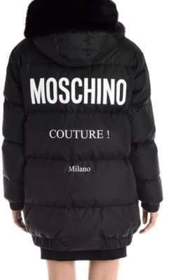 Moschino Logo Back Puffer Jacket