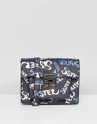 Paul & Joe Sister Graffiti Cross Body Bag