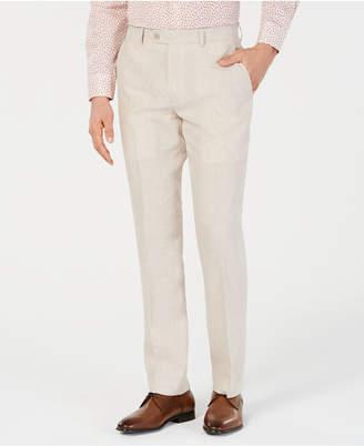Bar III Men Slim-Fit Linen Tan Suit Pants