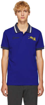 Kenzo Blue Jumping Tiger Polo