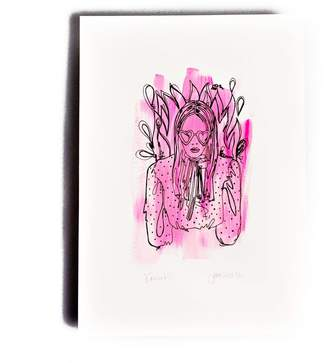 The Completist Pink Lady Limited Edition Hand Finished Screen Print