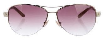 Jimmy Choo Jimmy Choo Studded Aviator Sunglasses