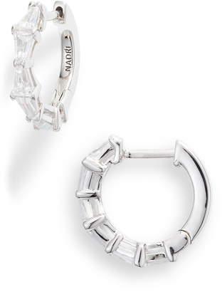 Nadri Mia Cubic Zirconia Huggie Hoop Earrings