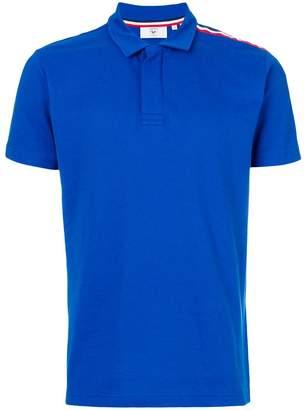Rossignol stripe detail asymmetric polo shirt