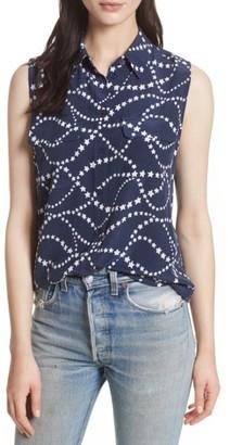 Women's Equipment Slim Signature Print Silk Shirt $228 thestylecure.com