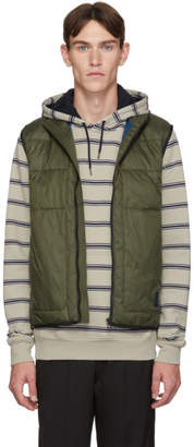 Paul Smith Khaki Insulated Quilted Gilet Vest