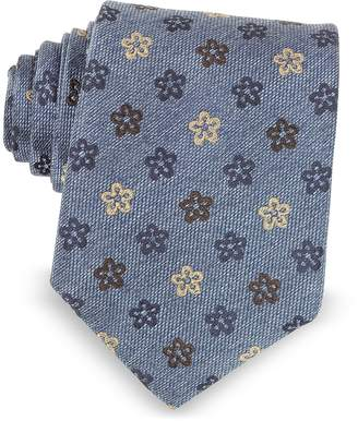 Forzieri Floral Woven Silk Ties