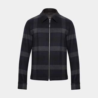 Theory Wool Plaid Shirt Jacket