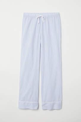 H&M Cotton Pajama Pants - Blue