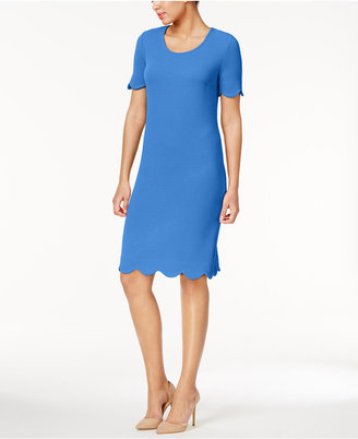 NY Collection Textured Scalloped Dress $60 thestylecure.com