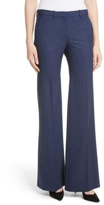 Theory Demetria 2 Flare Leg Good Wool Suit Pants