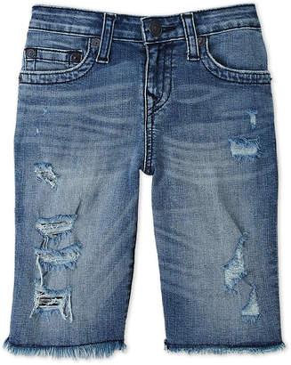 True Religion Boys 8-20) Geno Distressed Denim Shorts