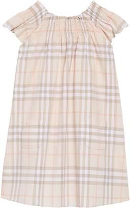 Burberry Vinya Ruffle Sleeve Shift Dress