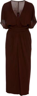 Narciso Rodriguez Shirred Waist Jersey Dress