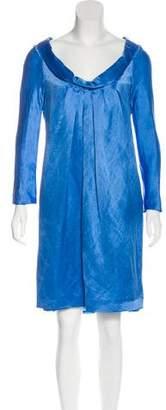 Alberta Ferretti Scoop Neck Knee-Length Dress