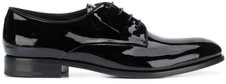 Giorgio Armani patent Oxford shoes